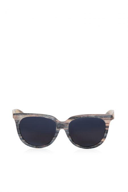 Natural brown-grey horn scratched effect sunglasses