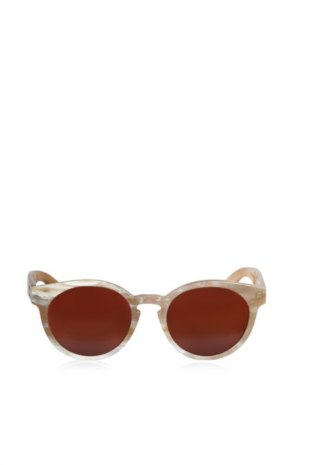 Natural white horn sunglasses