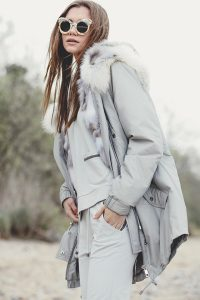 """""""Parka"""" outwear with natural silver fox fur 6"""