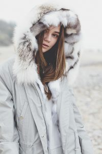 """""""Parka"""" outwear with natural silver fox fur 7"""