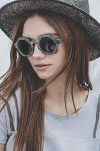"""Natural horn sunglasses """"ROUND"""" 3"""