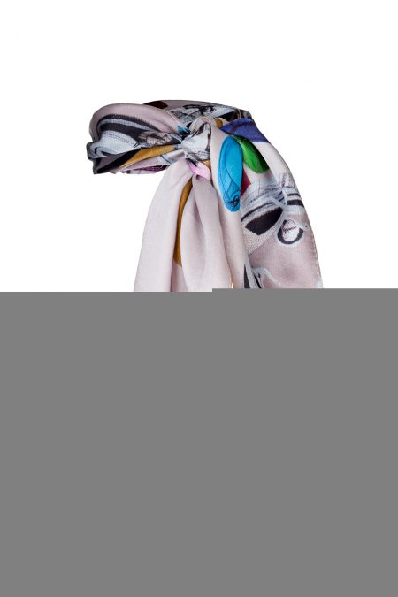 """Coocoomos by Luka Brase"" limited edition silk scarf"