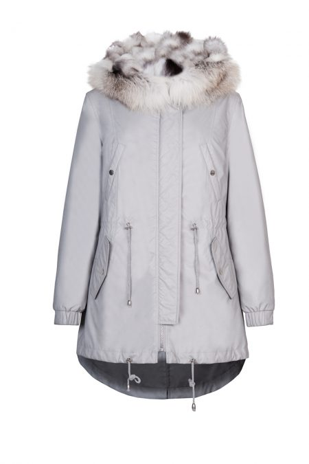 """""""Parka"""" outwear with natural silver fox fur 1"""