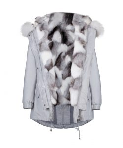 """""""Parka"""" outwear with natural silver fox fur 2"""