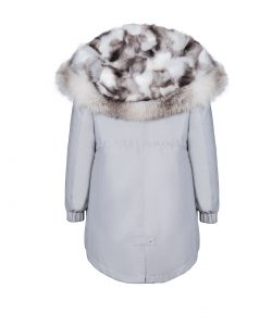 """""""Parka"""" outwear with natural silver fox fur 3"""