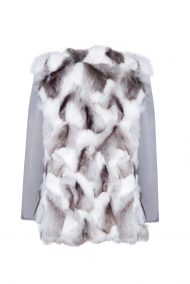 """""""Parka"""" outwear with natural silver fox fur"""