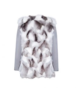 """""""Parka"""" outwear with natural silver fox fur 5"""