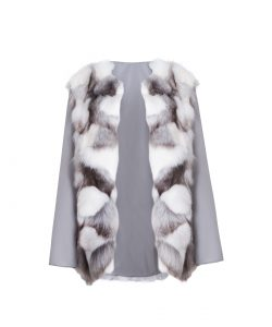 """""""Parka"""" outwear with natural silver fox fur 4"""