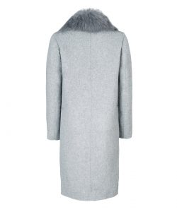 Cashmere/Wool coat with natural fox fur collar 2
