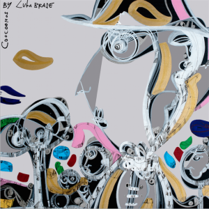 """Coocoomos by Luka Brase"" limited edition silk scarf 2"