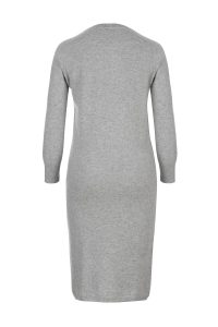 Cashmere olivia dress gray woman coocoomos kašmyro suknė tunika pilka back nugara