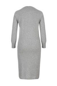 Cashmere olivia dress gray woman coocoomos kašmyro suknė tunika pilka back nugara