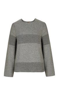 Paalaidinė LINES pilka sweater top lines gray wool coocoomos