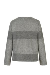 Paalaidinė LINES pilka sweater top lines gray wool coocoomos back