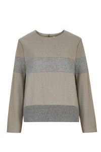 Paalaidinė LINES ruda sweater top lines brown wool coocoomos