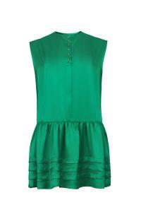 Green silk dress woman dress ecological fabric coocoomos zalia šilko suknele ekologiskas audinys