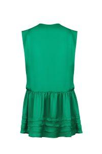 Green silk dress woman dress ecological fabric coocoomos zalia šilko suknele ekologiskas audinys 2