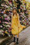 Yellow silk dress woman dress ecological fabric fashion photography coocoomos geltona šilko suknele ekologiskas audinys tunika mados fotografija 2