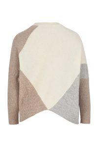 Coocoomos Cashmere sweater nude color natural fabric ecological fabric knitted sweater luxury material kasmyro megztukas naturalus audinys kasmyro vilna ekologiskas audinys sviesi spalva nugara