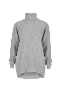 Coocoomos Cashmere sweater turtleneck gray color natural fabric knitted sweater luxury material kasmyro megztukas golfas naturalus audinys kasmyro vilna ekologiskas audinys pilkos spalvos