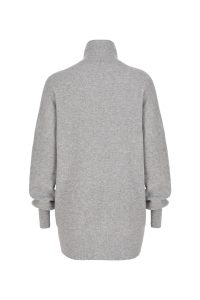 Coocoomos Cashmere sweater turtleneck gray color natural fabric knitted sweater luxury material kasmyro megztukas golfas naturalus audinys kasmyro vilna ekologiskas audinys pilkos spalvos nugara